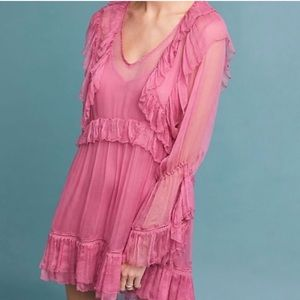 Love Sam | Juliet Ruffle Pink Mini Dress | M